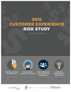 2015 Customer Experience Risk Study